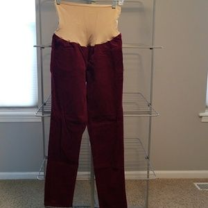 Old Navy full panel maternity corduroy pant bottom